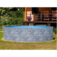 Сборный морозостойкий  бассейн Mountfield Azuro Stone (Ø4,6м \ 20000л \ h=1,2 м) Lagoon лайнер (0,5мм) без фильтрации