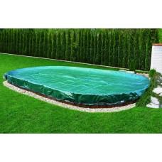 Защитное накрытие для сборного бассейна размером 7,3х3,7м