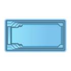 Чаша басcейна стекловолоконная 8,5 x 3,7 x 1,5 м
