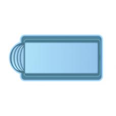 Чаша басcейна стекловолоконная 7 x 3,2 x 1,5 м