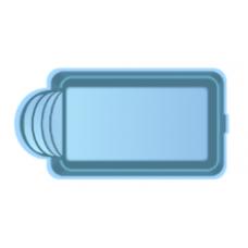 Чаша басcейна стекловолоконная 5 x 3 x 1,5 м
