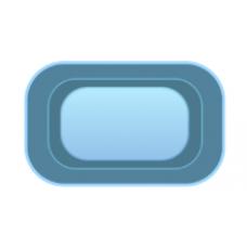 Чаша басcейна стекловолоконная 4 x 2,8 x 1,55 м