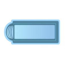 Чаша басcейна стекловолоконная 10,3 x 3,7 x 1,5 м