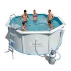 Круглый каркасный бассейн BestWay с металлической стенкой 56285