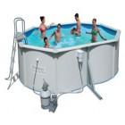 Овальный каркасный бассейн BestWay с металлической стенкой 56286