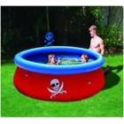 Детский надувной бассейн с 3D аппликацией Пираты 57243