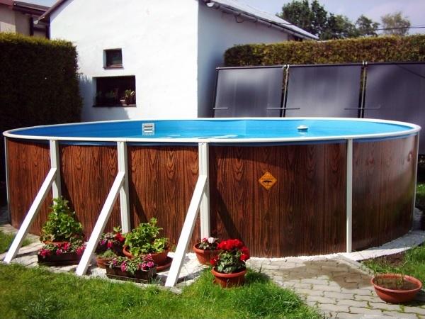Наземная установка бассейна Азуро