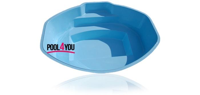 Купить стекловолоконный бассейн Pool4you Ozzy в Киеве и Украине