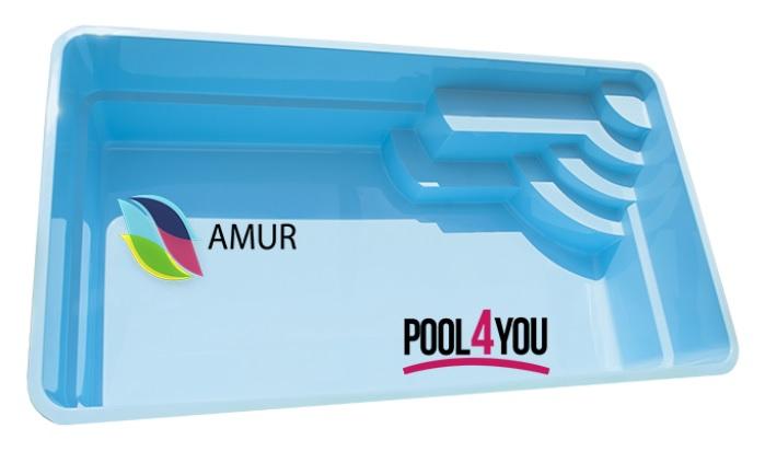 Купить стекловолоконный бассейн Pool4you Amur в Киеве и Украине